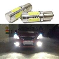 Car Lights 2pcs Super Bright White 7 5W LED SMD1156 Leds Light S25 Backup Reverse Lamp