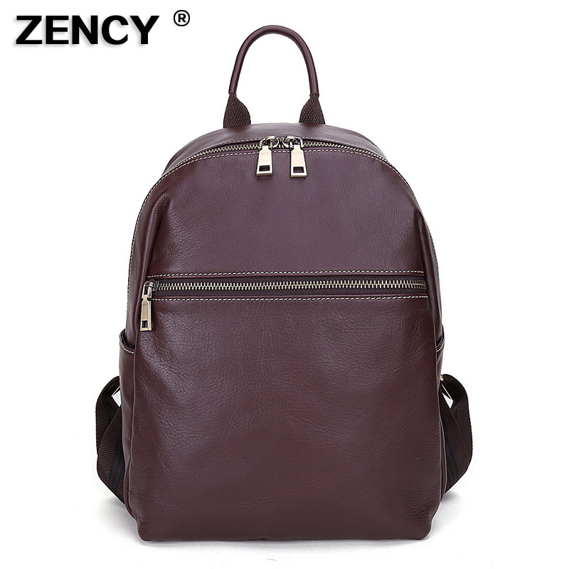 2019 Brand New Designer Fashion 100% Top Italian Real Genuine Leather  Women s Backpacks Ladies Girls 6bfdeca913d56