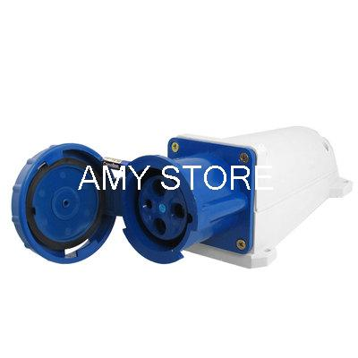 63A Blue White Water Proof IP67 3P+E IEC309-2 Industrial Socket abb industrial connector four pole mobile industrial plug 63a 363p6