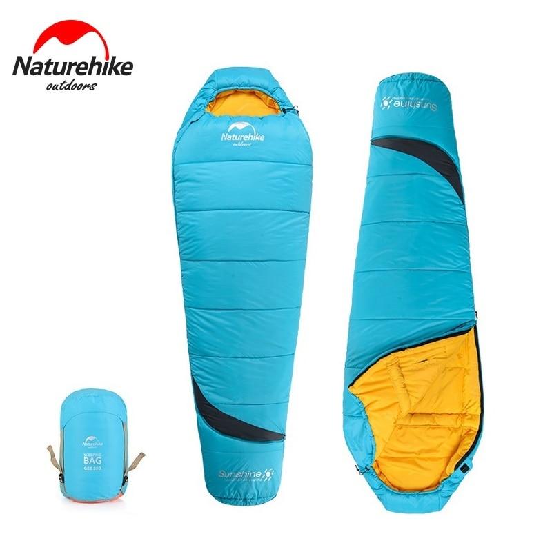 Naturehike Mummy Sleeping Bag Waterproof Adult Portable Outdoor Camping Hiking Cotton NH17G350-E дождевики baby smile универсальный дождевик для колясок тканно силиконовый