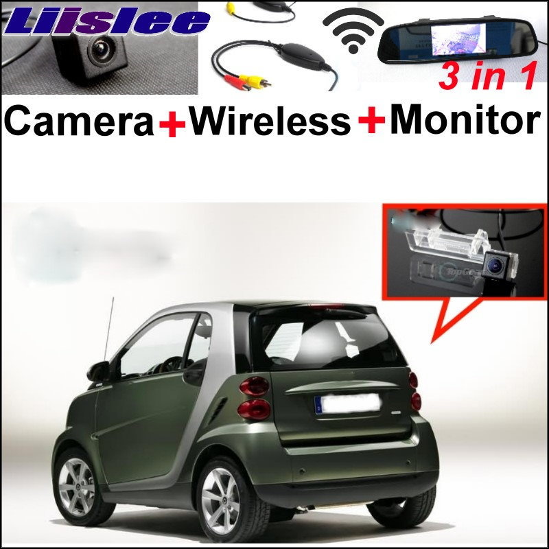 Liislee 3 in 1 Special WiFi Camera + Wireless Receiver + Mirror Screen BackUp Rear View Parking System For Mercedes Benz Smart