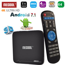 Mecool M8S Pro+ H.265 Android 7.1 TV BOX 1G 2G RAM S905X Quad-core 2.4G WiFi UDH 4K Android TV BOX Smart Mini PC Media Player
