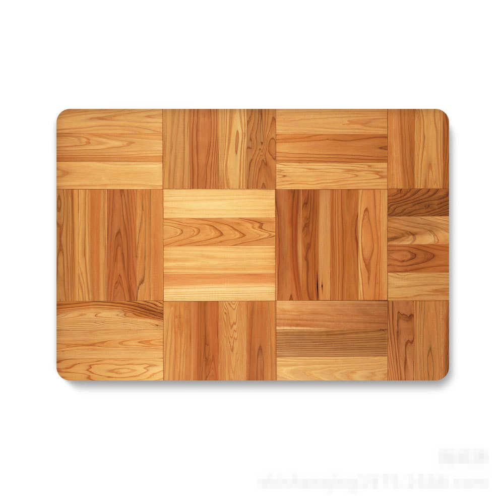 Nouvel étui à motif de grain de bois pour Apple Macbook Air Retina 13 12 15 11 pouces 2018 nouveau Pro13 15 étui pour ordinateur portable + housse de clavier