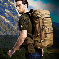 Military Tactical Backpack Mochila Camping Hiking Daypack Outdoor Camouflage Laptop Backpack Shoulder Bag 60L Free Shipping