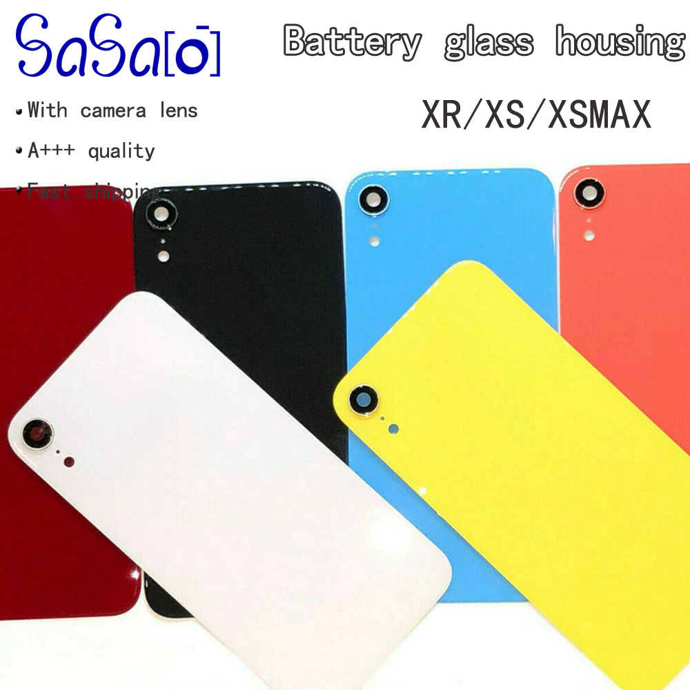 Back Glass Panel With Camera Frame Lens Replacement For iPhone xr xs max Back Battery Glass