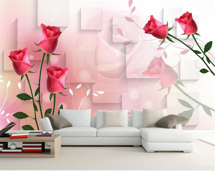3d wallpaper custom mural non-woven 3d room wallpaper 3 d TV setting wall rose red square murals photo  wallpaper for walls 3 d 3d wallpaper custom mural non woven 3d room wallpaper wall stickers abstract tree 3 d tv setting photo wall paper for walls 3d
