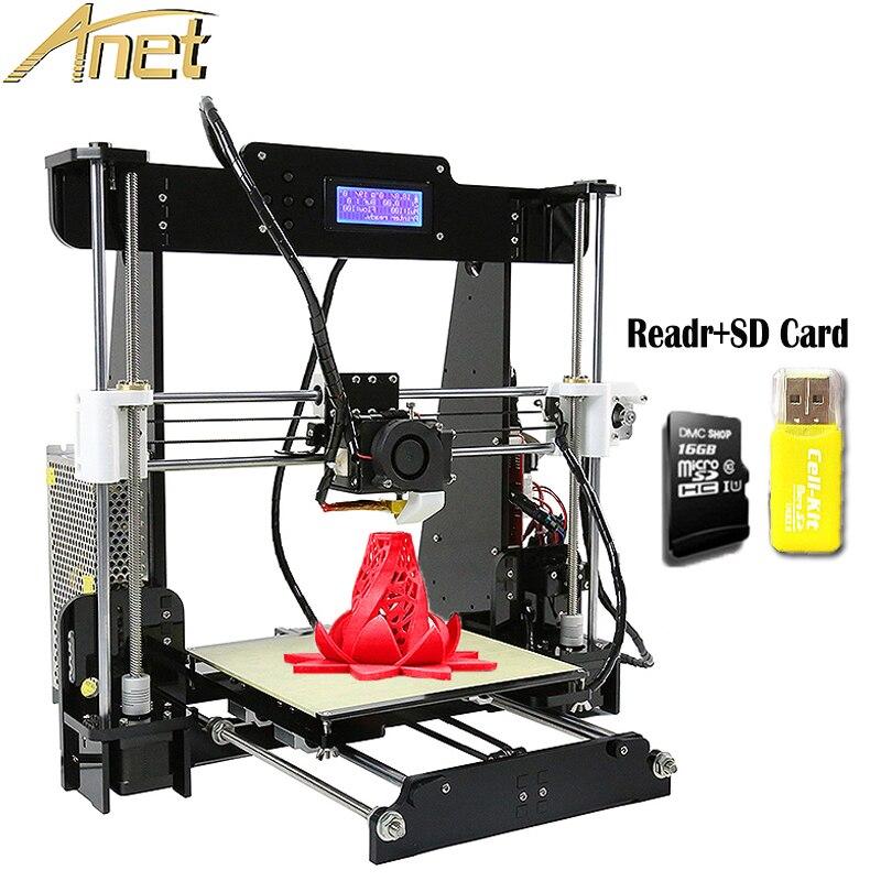 Anet A8 3d Printer High Precision Reprap Prusa i3 3D Printer DIY kits 2004 LCD Screen