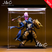 Free Shipping WOW Dota 2 DC Delaney Paladin Ainme Action Figure Toys Cartoon Game 22cm PVC Kids Collection Model For Gift