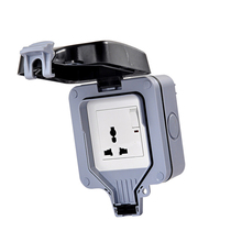 Wall Switch Plastic Waterproof Box Splash Touch Cover More Function Socket Room Suitable for UK/EU/AU/US Plug