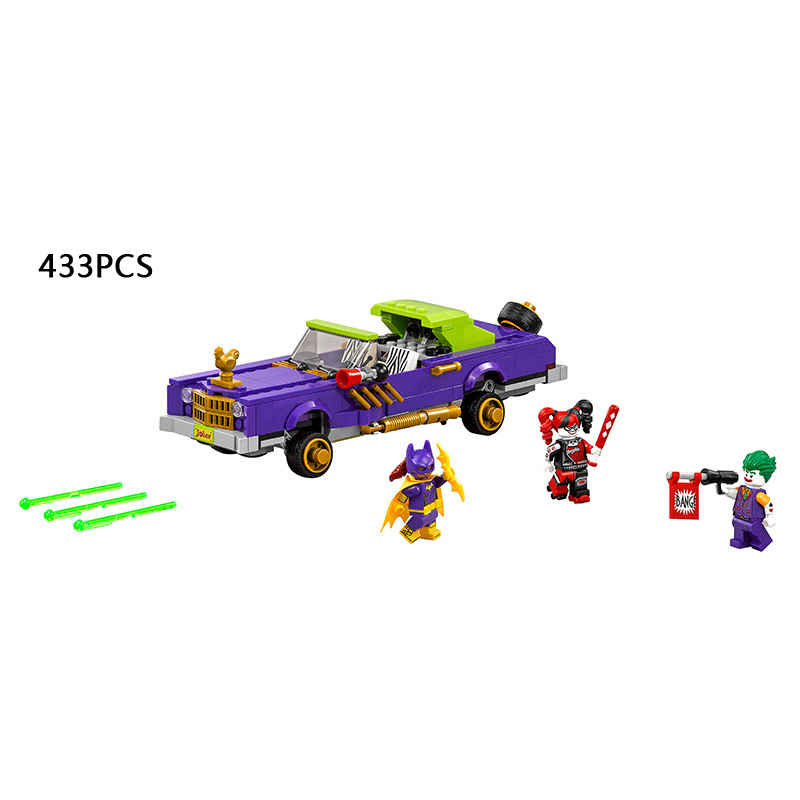 2018 DC superhjältar batman The Joker Notorious Lowrider bilbyggnadsblock Harley Quinn Batgirl 70906 leksak för barn