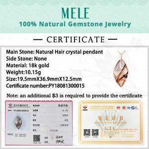 Image 5 - טבעי גן קריסטל אמיתי 18 k זהב תליון לנשים וגבר, אדום צבע מים drop צורת ghost hairstone תכשיטים