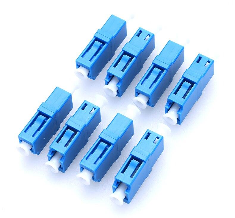 100 PCS/Lot LC UPC Simplex LC adaptateur Fiber optique monomode SM coupleur bleu fibre coupleur livraison gratuite