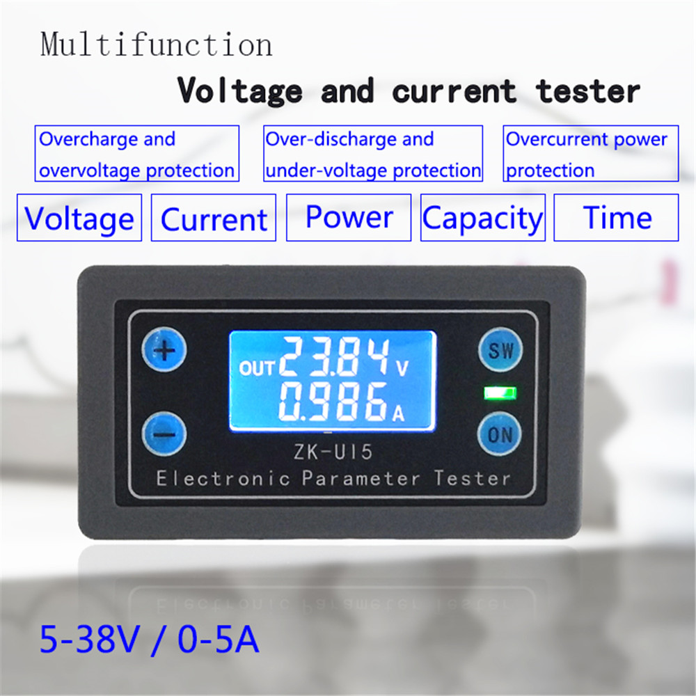 Voltage And Current Meter Power Capacity Time Undervoltage And Overvoltage Protection Battery Charge Discharge Control