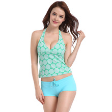 Hot spring bathing suits female 2019 new swimsuit show thin fission woolly boxer swimsuit high-grade nylon swim suit цена