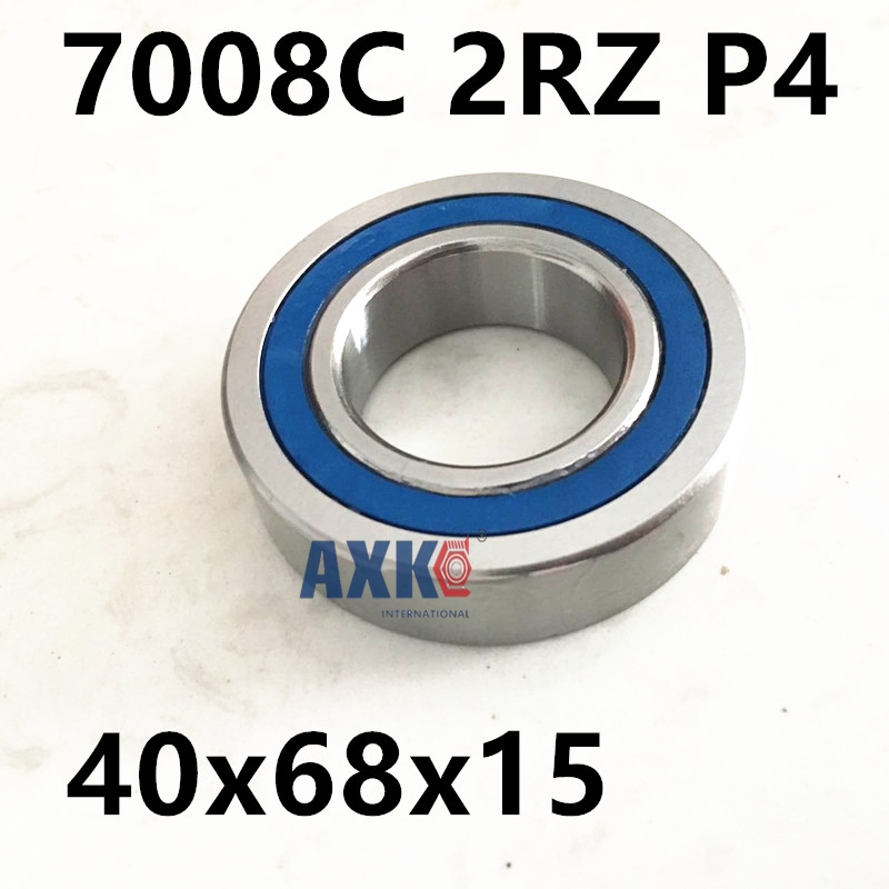 1pcs 7008 7008C 2RZ P4 40x68x15 AXK  Sealed Angular Contact Bearings Speed Spindle Bearings CNC ABEC-7 7008 7008c 2rz hq1 p4 dt a 40x68x15 2 sealed angular contact bearings speed spindle bearings cnc abec 7 si3n4 ceramic ball