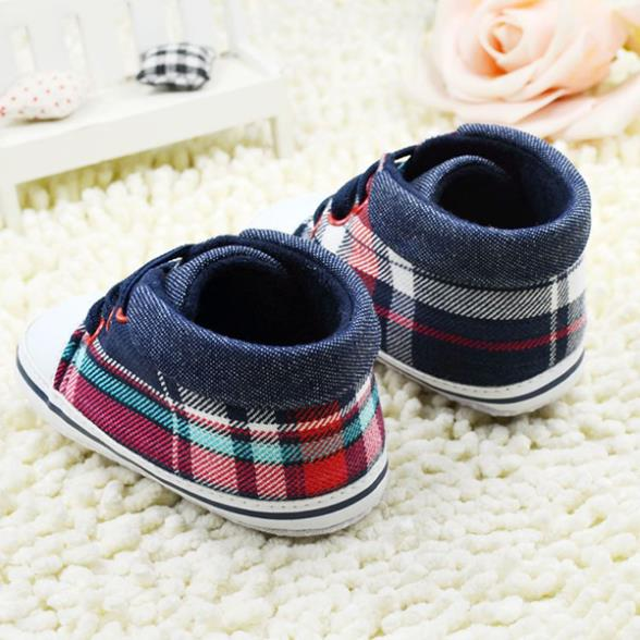 Fashion Chic Kids Baby Girls Boys Lace Up Shoes Soft Bottom Crib Shoes Sneaker 3Size