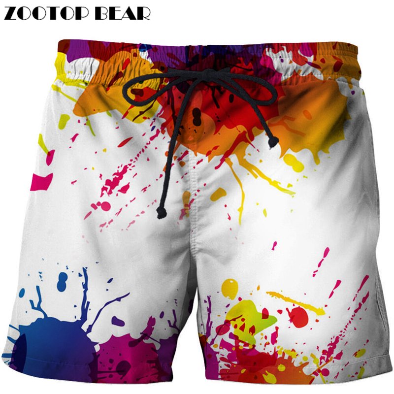 Painting Printed Beach   Shorts   Men   Shorts   Plage 3d Funny   Board     Shorts   Quick Dry Pant Brand pants Swimwear DropShip ZOOTOP BEAR