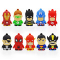 usb flash drive USB 2.0 cartoon superhero  usb flash drive  4gb 8gb 16gb 32gb memory stick flash drive  10pcs/lots pendrive