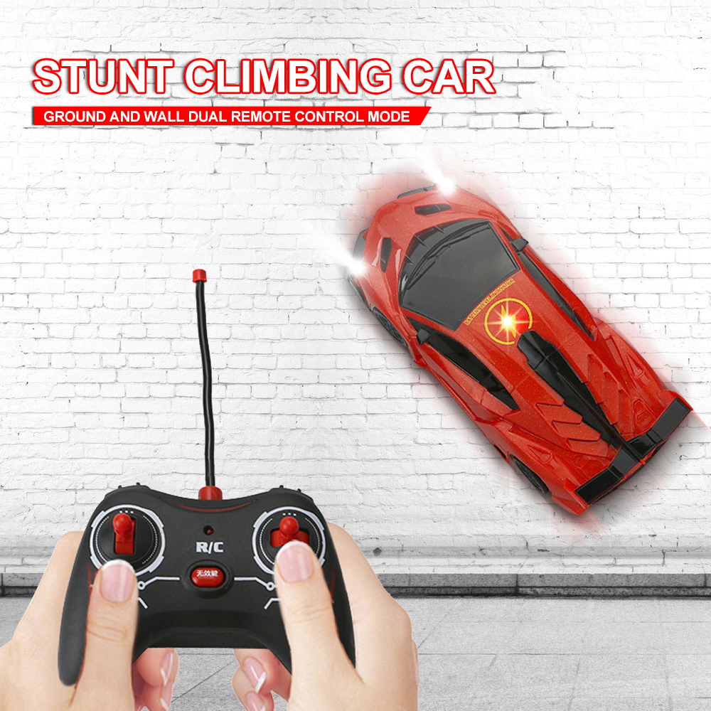 2019 Creative RC Car Wall Racing Car Toys Climb Ceiling Climb Across The Wall Remote Control Car Toy RC Car Boy Christmas Gift