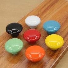Красочные керамики и пуговицы Форма Круглый ручки тянуть ручки для кабинета Шкаф ящика двери шкафа