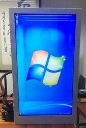 Pantalla táctil lcd transparente para publicidad de 43 pulgadas monitor kiosco Windows o sistema operativo Android