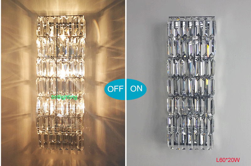 Us 14 9 Living Room Wall Lights For Home Led Sconce Modern Crystal Lamps Hallway Long Lamp Bedroom Lighting In
