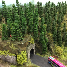 50 шт. 1:150 модель поезд Деревья N масштаб 50 мм TC50 железнодорожное Моделирование Пластиковые модели Дерево Модель Строительные наборы
