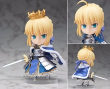 Fate/stay night action-figuren saber nendoroid ritter pvc 100mm fate grand auftrag anime modell spielzeug fate stay nacht ritter saber