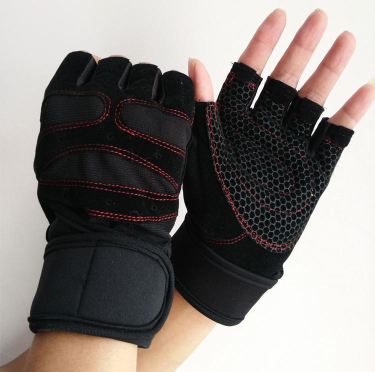 Weight Lifting Gym Gloves Training Fitness Wrist Wrap: New Sports Weight Lifting Gym Gloves Unisex Fitness