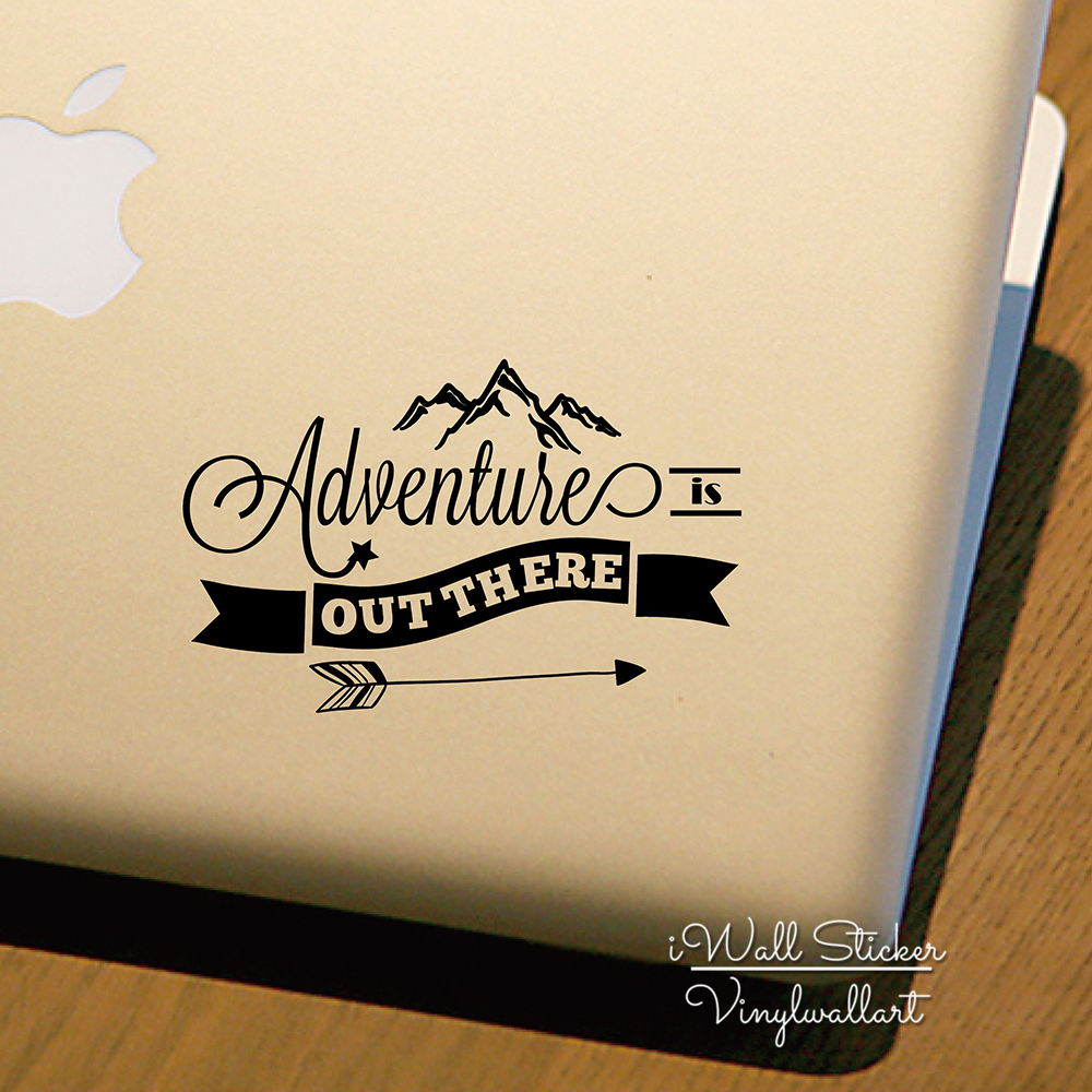 Computer Sticker Adventure Is Out There Quotes Computer Decal DIY Decors Cut Vinyl Sticker MC2