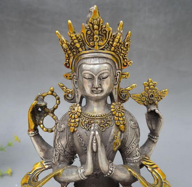Collectable Tibetan Buddhism Gilt Vajrasattva Statue