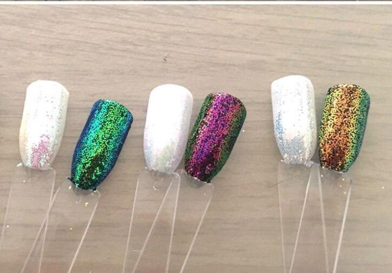 0,2mm 1/128 Pixel Einhorn Aurora Wirkung Pulver Nail Art Glitter Ab Meerjungfrau Diamant 3 Gläser Aurora Fee Staub Magie Glitter 008