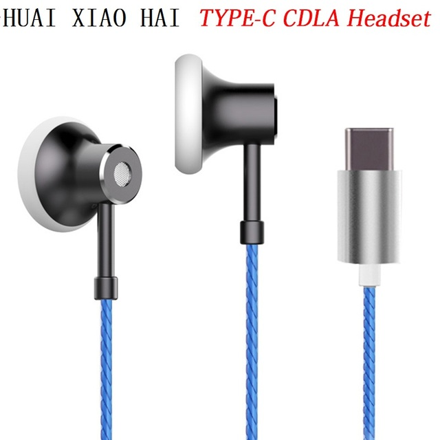 US $12 59 10% OFF|Original TYPE C CDLA Earphone,Digital HIFI Noise Cancel  Natural Sound With Mic/Volume control for xiaomi 6/Moto z force/HTC/SONY-in