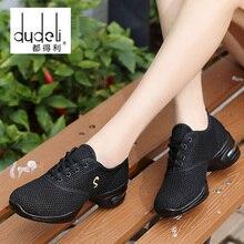 DUDELI Jazz moderno zapatillas de deporte de las mujeres de malla  transpirable de baile zapatos de práctica de amortiguación lig. e4083bfab13