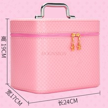 New Cosmetic Bag Large Capacity Portable Cute Travel Home Mini Cosmetics Storage Box Makeup Pack Make Up Package Toiletry makeup pack cosmetics case professional storage large box partition portable 3 layer beauty tattoo kit cosmetic bag make up