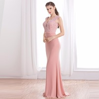 Formal Evening Dresses Ever Pretty 2017 Elegant Pink Embroidery Ruched Bust Maxi Woman Evening Dresses DT17014
