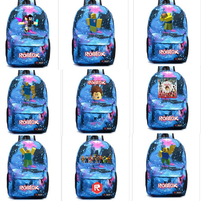 Kids Roblox Noob Skybule Canvas Backpack Student Girls Boys