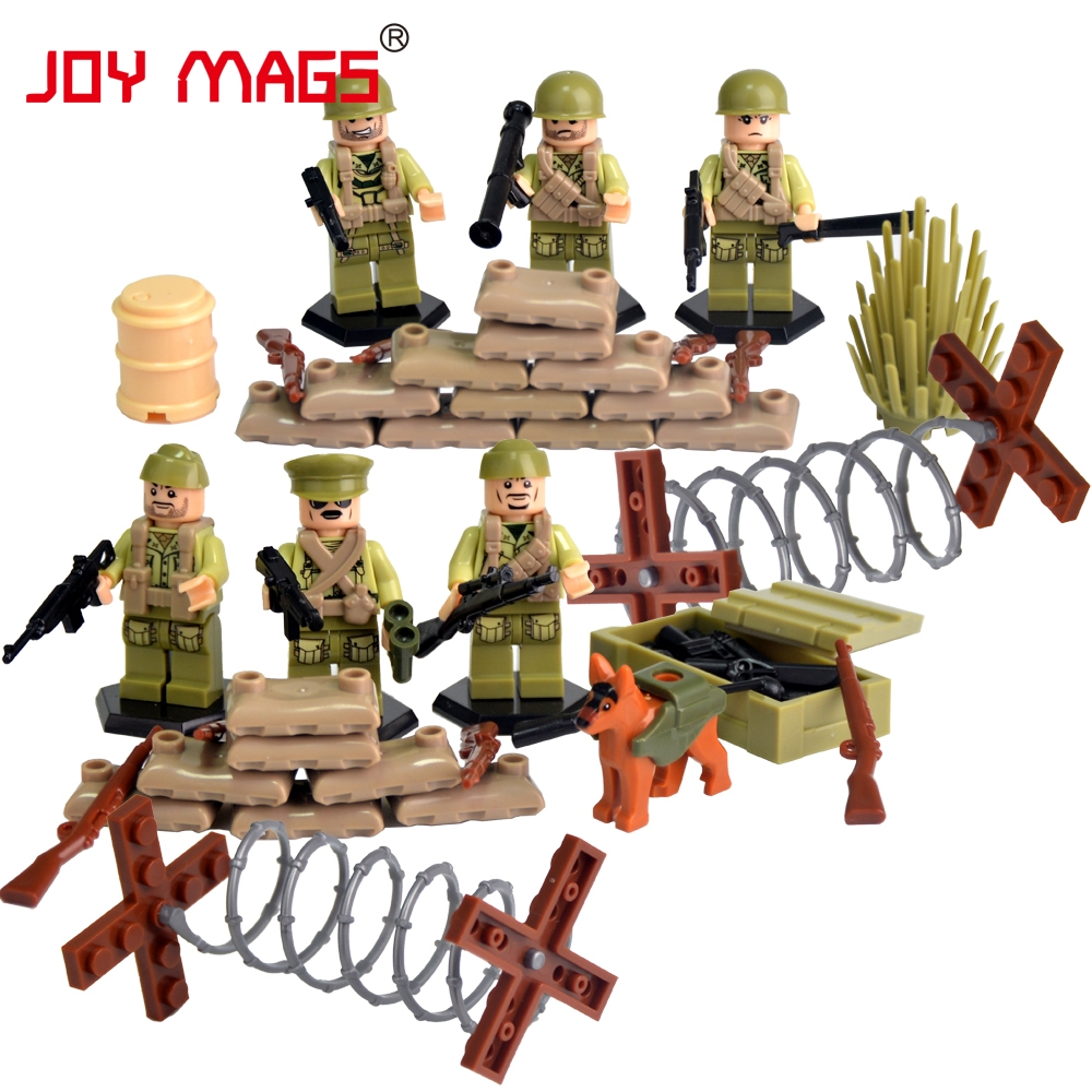 JOY MAGS World War II Set US Commandos Brothers Team Marine Corps RPG Battlefield Building Blocks