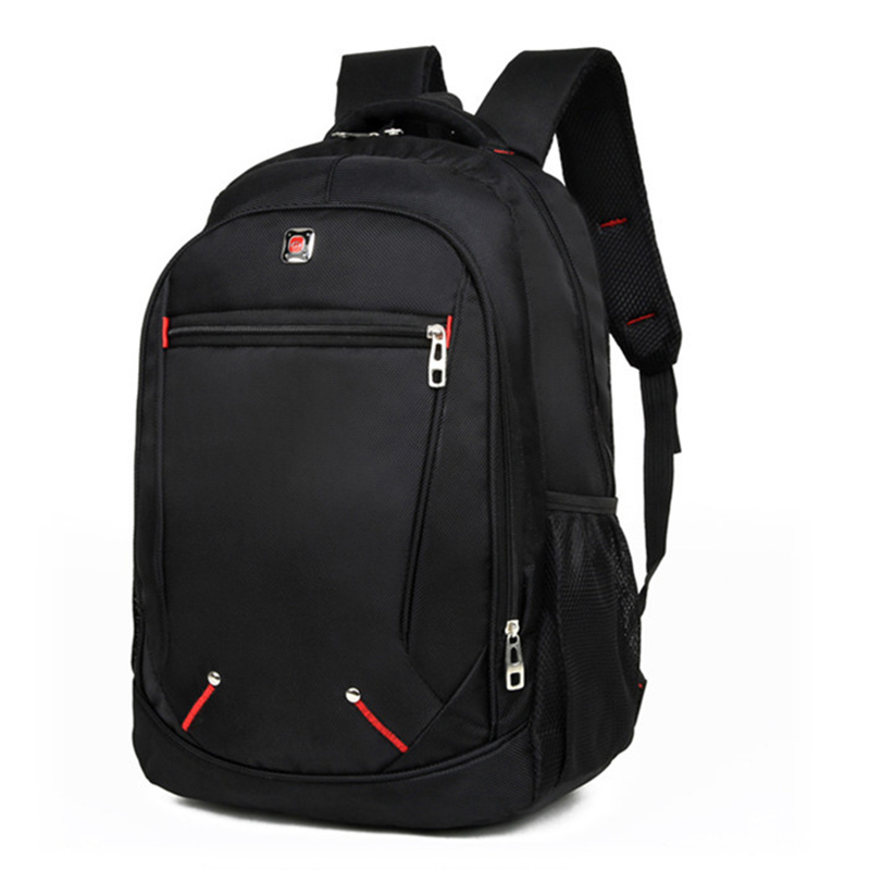 Hot-Casual Solid Color Material Oxford Man's Backpack Multi-functional Large-capacity Student Schoolbag Simple Bag