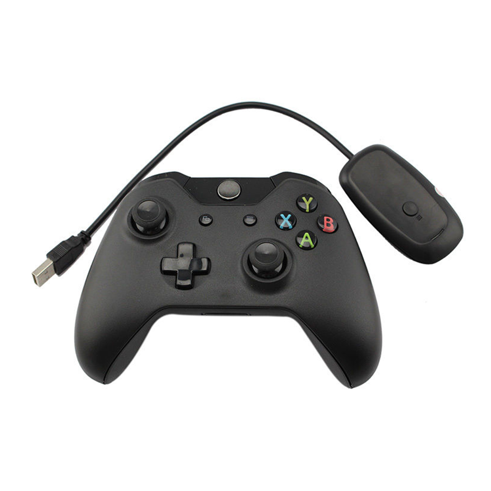 New Black 2 4GHz Wireless Game Controller Joypad for Xbox One Microsoft PC High quality Wireless