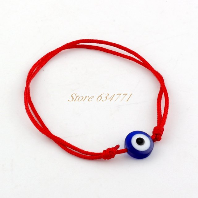 100pcs Kabbalah Red String Bracelet Mix Color Resin Eye Bead Protection Health Luck Hiness Bracelets