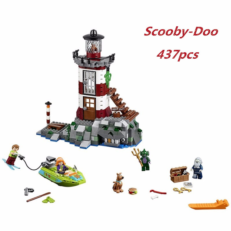 437pcs Bela diy Scooby Doo Haunted Lighthouse kids Building Blocks Compatible With Legoingly 75903 Bricks Toys gift For Children bela scooby doo haunted lighthouse building block model kits scooby doo marvel toys compatible legoe