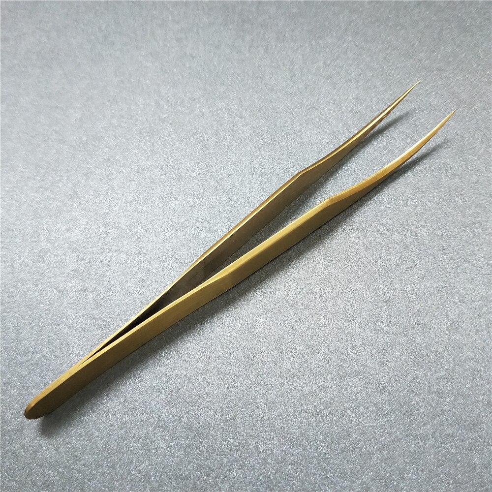 Stainless Steel Curved Straight Volume Eyelash Extension Tweezers Eyebrow Tweezers Free Shipping