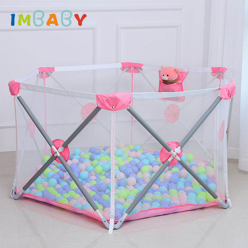 IMBABY Not Installation Baby Playpen Fence Safety Barrier For 0 6Y Kids Children Playpen Newborns Game