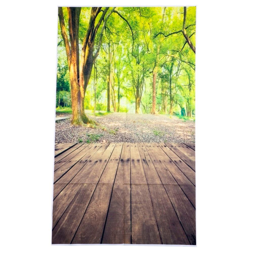 3x5FT Forest Wood Floor Nature Vinyl Photography Background Backdrop Studio Prop