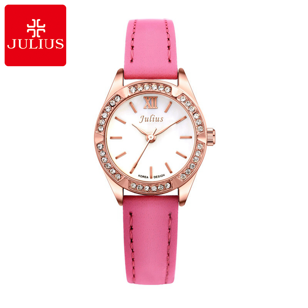 Ladies Hot Wristwatch New Women Luxury Dress Rhinestone Female Fashion Casual Quartz Watch Top Brand Julius 730 Clock Watches duoya fashion luxury women gold watches casual bracelet wristwatch fabric rhinestone strap quartz ladies wrist watch clock