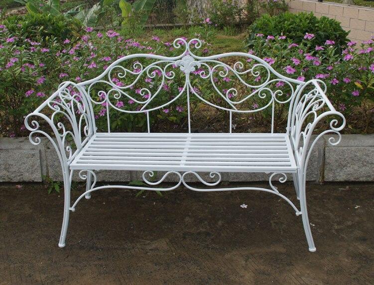 European Style Garden Wrought Iron Garden Chairs Outdoor