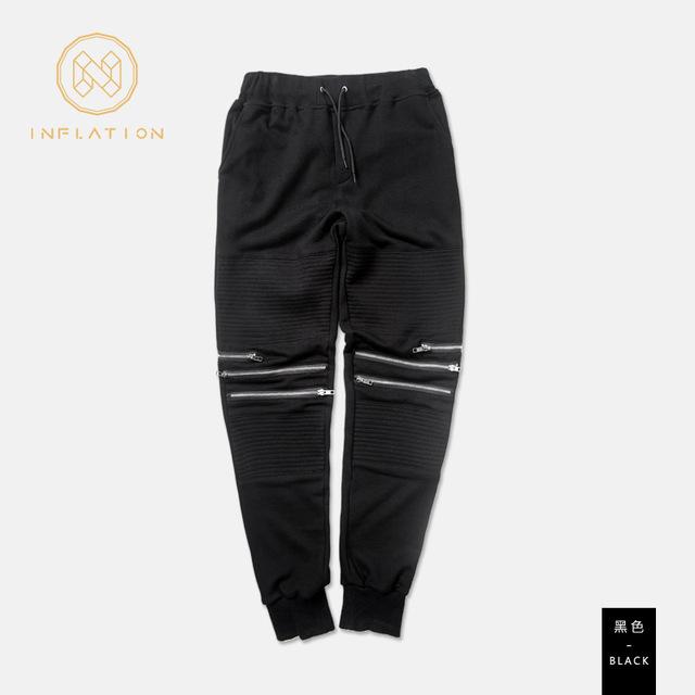Mens Joggers pantalones 2016 Marca Pantalones Masculinos Hombres Pantalones Casuales Pantalones Sólidos pantalones de Chándal Basculador Negro XXXL BTR002