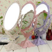 New Retro decorative mirror cosmetic Vintage Makeup Mirror Desktop Rotatable with Rose Vines Decor Tool