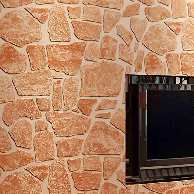 Retro piedra de ladrillo rojo wallpaper 3 d papel de pared impermeable de pvc de pared.jpg 640x640.jpg